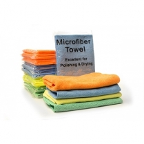 "Premium Microfiber Towel | 16"" x 16"" | 40 Grams | Individually Packaged"