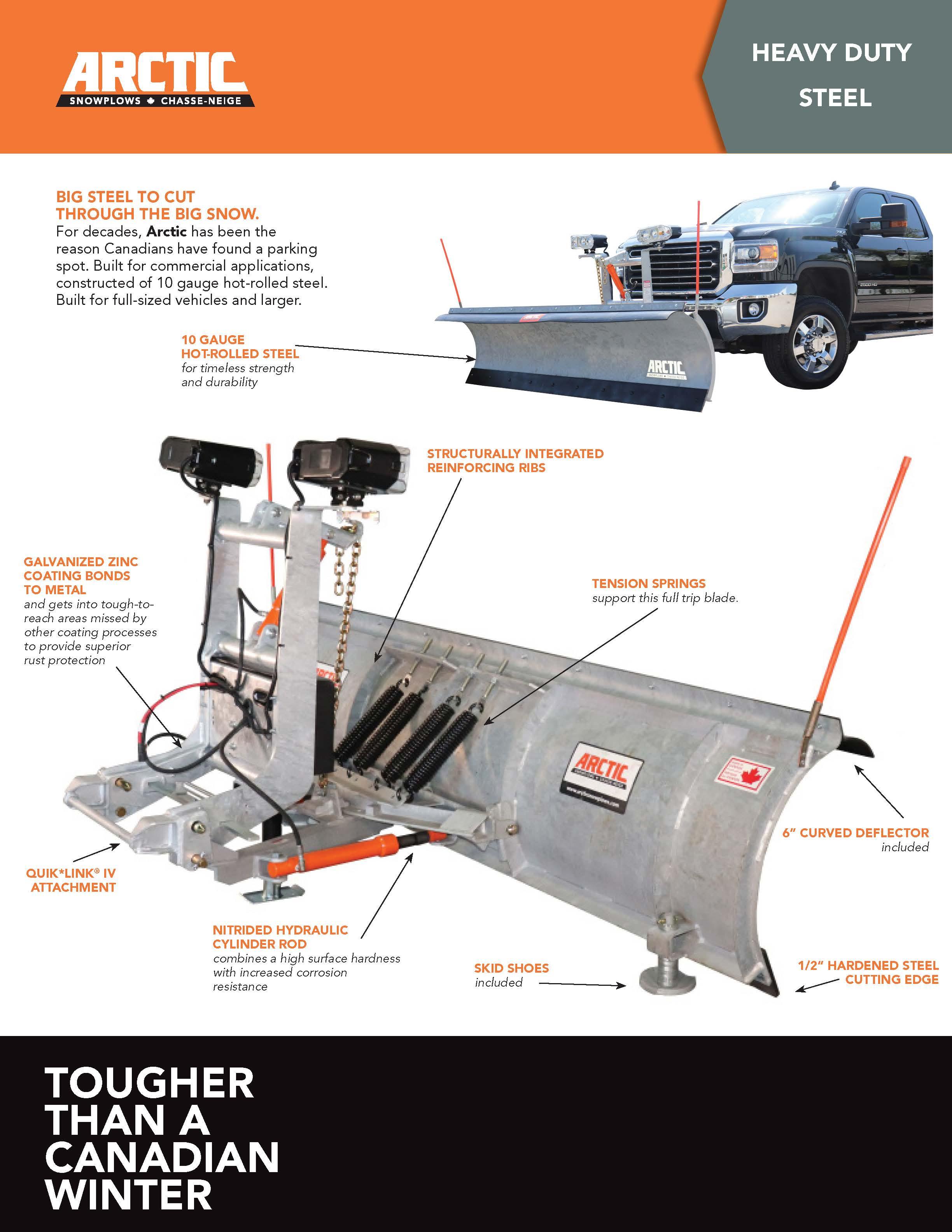 Arctic Heavy Duty Steel Blade Brochure
