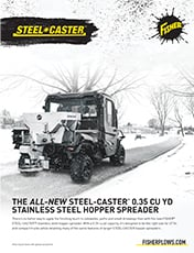 FISHER® Steel-Caster™ Compact Spreader 0.35 Sell Sheet