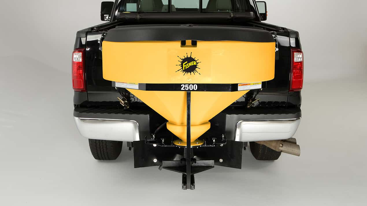 FISHER® LOW PROFILE Tailgate Spreader - CORROSION-RESISTANT HOPPER