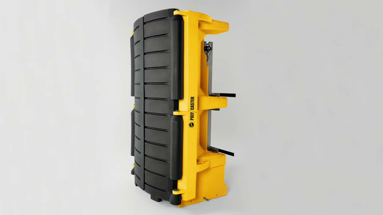 FISHER® POLY-CASTER™ Poly Hopper Spreader - CONVENIENT STORAGE