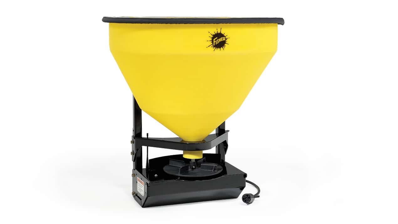 FISHER® QUICK-CASTER™ 300W Wireless Electric Tailgate Spreader - CORROSION-RESISTANT HOPPER