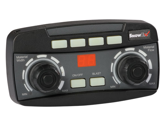 <strong><u>Dual Variable-Speed Control</u></strong><br/>Dial in the spread pattern with the new dual variable-speed control. This digital, self-diagnosing unit allows independent adjustment of spinner and auger speeds. It also features bright LED lights and convenient accessory buttons for easy control of the standard vibrator and other optional accessories.