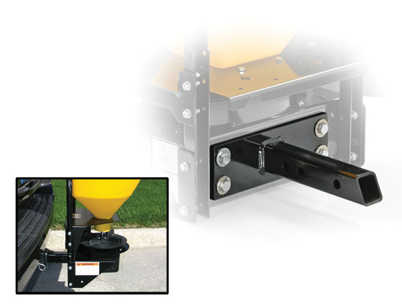 <strong><u>Light-Duty Hitch Mount</u></strong><br/>The SP-575X-1 spreaders come standard with a 2-inch (51mm) receiver mount for convenient attachment to a variety of vehicles.