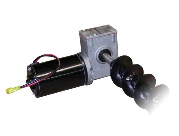 <strong><u>Efficient Direct Drive Transmission</u></strong><br/>The electric-powered motor and auger transmission unit precisely delivers materials to the spinner.
