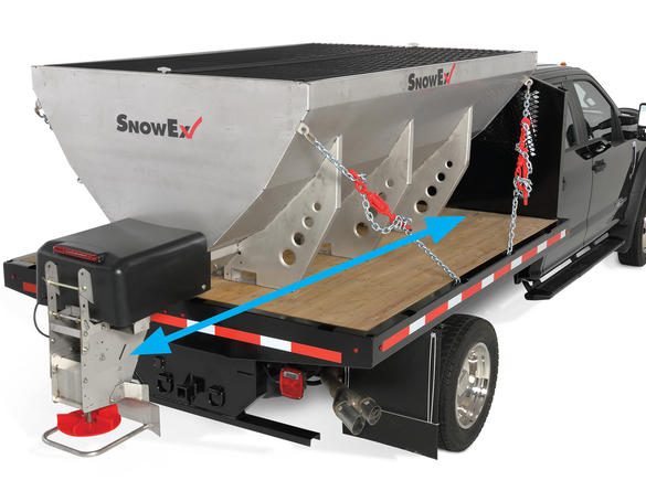 <strong><u>Cab Forward Design</u></strong><br/>The cab forward hopper delivers better payload distribution to reduce stress on the truck and prevents leakage/spilling when transporting.