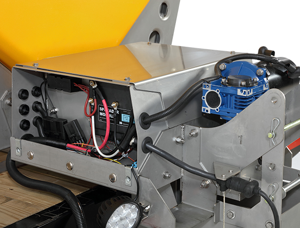 <strong><u>Rear-Mounted Gear Box</u></strong><br/>Easy access to motors, drives and other key components maximizes serviceability.