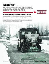 Western STRIKER™ COMPACT SPREADER 0.35 Sell Sheet