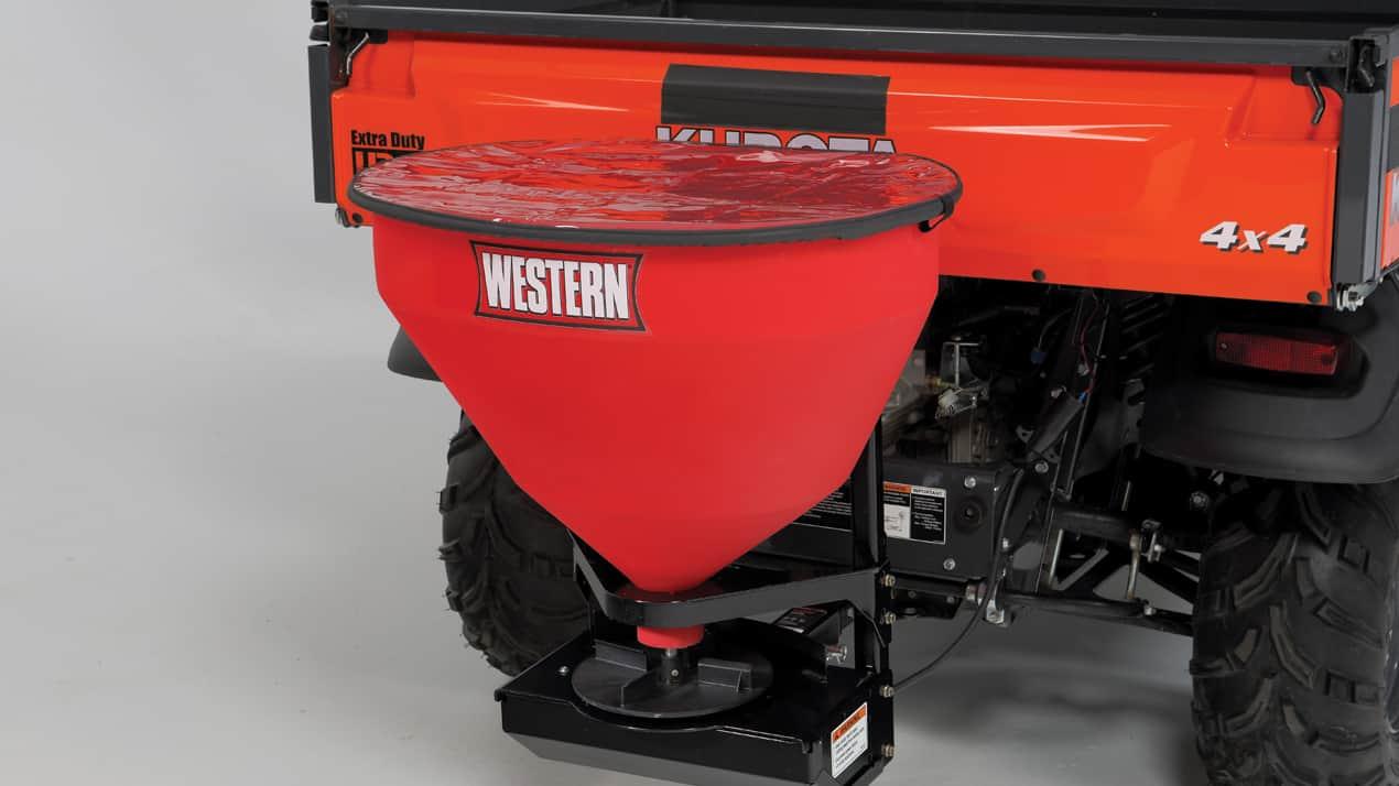 WESTERN® LOW-PRO 300W Wireless Electric Tailgate Spreader - CORROSION-RESISTANT HOPPER