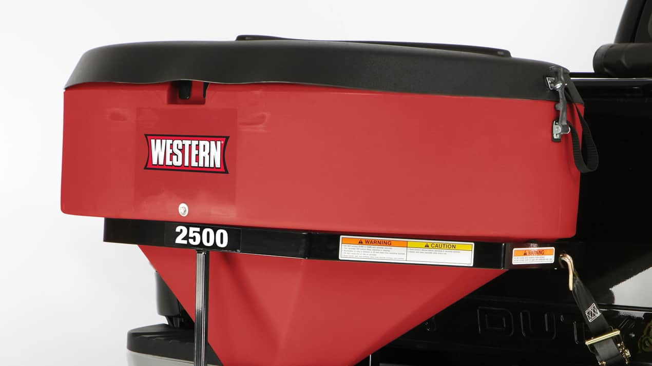 WESTERN® LOW PROFILE Tailgate Spreader - CORROSION-RESISTANT HOPPER