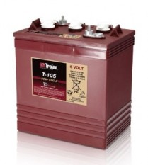 T-105   BATTERIE. CYCLE PROLONGE 6 V 225 AH TROJAN