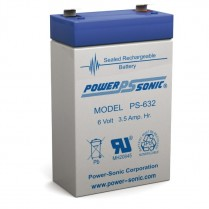 PS-632   SEALED AGM BATTERY  6 V   3.5 AH