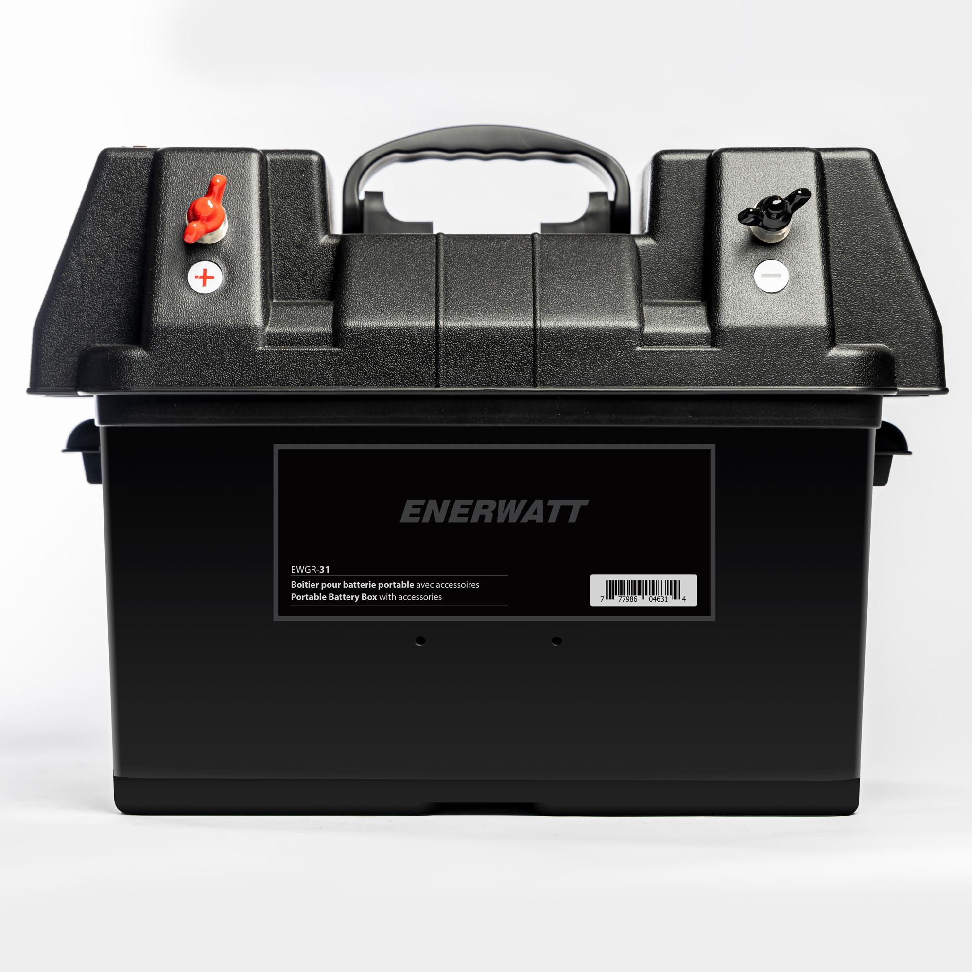 EWGR-31   Boîtier avec accessoires, CLA 12V et USB  pour batterie groupe 31
