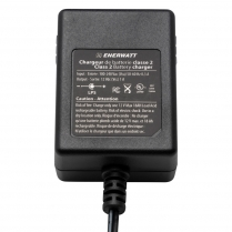 EWC12-1   12V 1A AUTOMATIC CHARGER WITH CLIPS