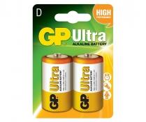 GP13A-C2   Pile alcaline D 1.5V GP Super (carte de 2)