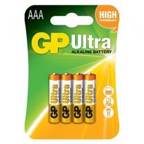 GP24AU-C4   PILE ALCALINE AAA GP ULTRA CARTE DE 4