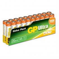 GP15AU-2VS20   Pile alcaline AA 1.5V GP Ultra (paquet de 20)