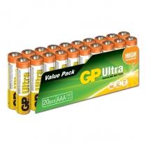 GP24AU-2VS20   Pile alcaline AAA 1.5V GP Ultra (paquet de 20)