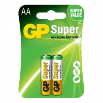 GP15A-2U2   Alkaline battery AA GP Super (card of  2)