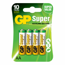 GP15A-2UE4   Alkaline battery  AA 1.5V GP Super (card of  4)