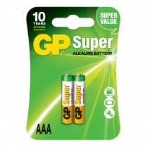 GP24A-2UE2    Alkaline battery  AAA 1.5V GP Super (card of  2)
