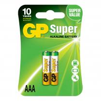 GP24A-2UE2   Pile alcaline AAA 1.5V GP Super (carte de 2)