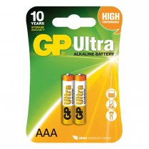 GP24AU-2UE2   Pile alcaline AAA 1.5V GP Ultra (carte de 2)