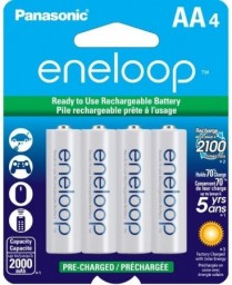 BK3MCCA4BF PANASONIC ENELOOP PRE-CHARGED RECHARGEABLE BATTERIES NI-MH AA 2000MAH 4-PACK
