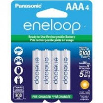 BK4MCCA4BF PANASONIC ENELOOP PRE-CHARGED RECHARGEABLE BATTERIES NI-MH AAA 800MAH 4-PACK