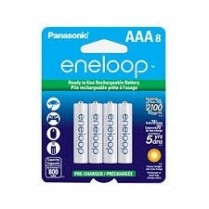 BK4MCCA8BF PANASONIC ENELOOP PRE-CHARGED RECHARGEABLE BATTERIES NI-MH AAA 800MAH 8-PACK