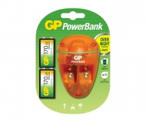 GPPB09US17R8-2LA2   9V NiMH charger 10 hours with 2x 9V 170mAh batteries included