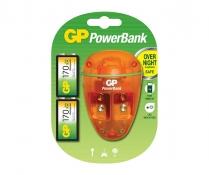 GPPB09US17R8-2LA2   Chargeur NiMH 9V 10 heures avec deux piles 9V 170mAh incluses