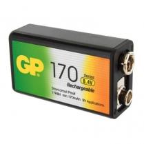 GP17R8H-2LA1   PILE RECH NI-MH 9V 8.4V 170MAH GP C/1