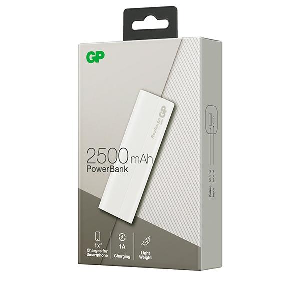 GPB02AWE-2B1 Pile externe / chargeur USB 1A 2.5AH GP