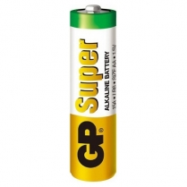 GP15A-2S2   AA alkaline battery  1.5V GP Super (bulk, 200 units per box)