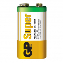 GP1604A-5S1   9V alkaline battery GP Super (bulk)