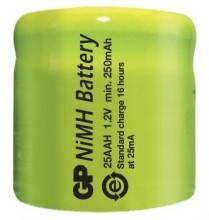 GP25AAH   NI-MH CELL 1/3AA 250MAH GP