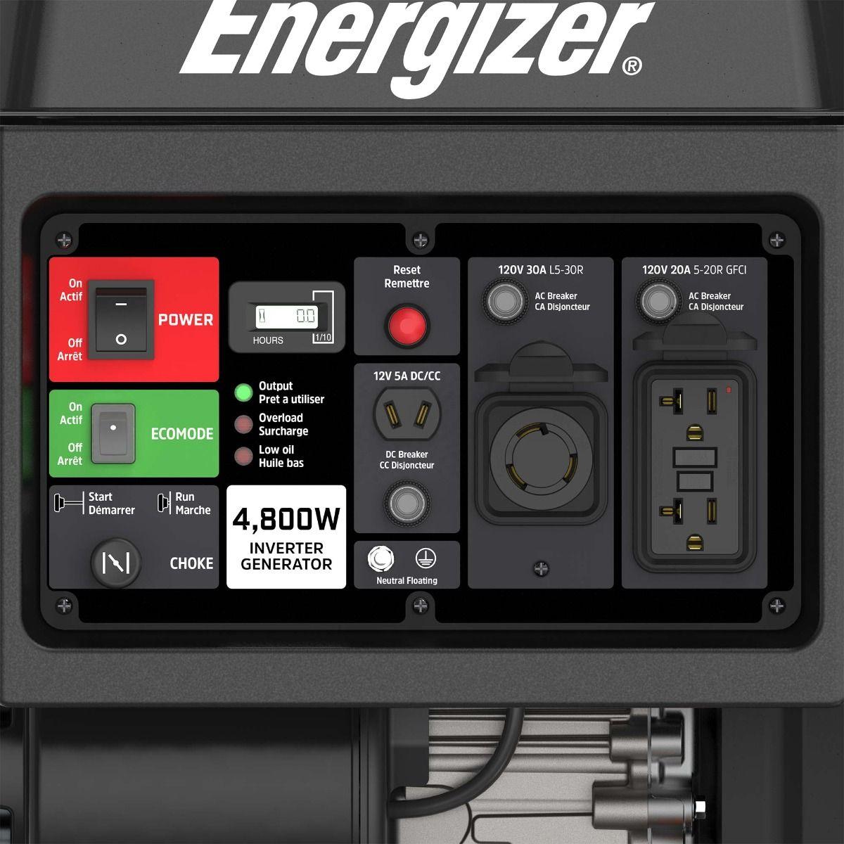 EZV4800   Génératrice onduleur a essence 4800W 31.7A