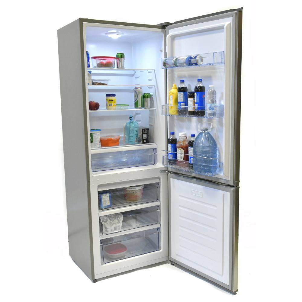 REF-425 réfrigérateur/congélateur 2 portes 12/24V 15 pi³ fini inox