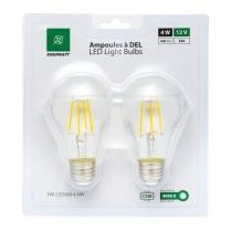 EWL-LEDA60-4-NW   FILAMENT AMP LED A60 12V 4WATT NW (PQT2)