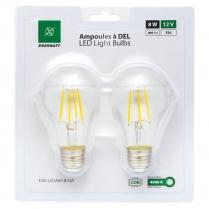 EWL-LEDA60-8-NW    FILAMENT AMP LED A60 12V 8 WATT NW (PQT2)