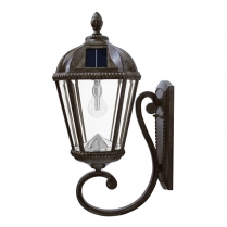 GS-98B-W LAMPE SOLAIRE MURAL ROYAL BRONZE A LUMIER LED BLANC
