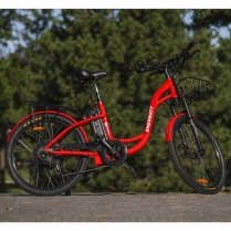 EWV-RETRO-RD   Electric Bike retro style 48V red