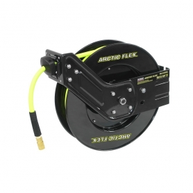 "3/8"" X 50' RETRACTABLE AIR HOSE REEL W/HYBRID POLYMER HOSE"