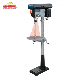 "15"" FLOOR MODEL DRILL PRESS WITH DUAL LASER GUIDE SYSTEM"