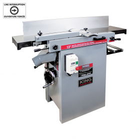 12'' INDUSTRIAL JOINTER/PLANER WITH SPIRAL CUTTERHEAD