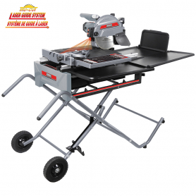 10'' SLIDING TILE SAW WITH FOLDING STAND