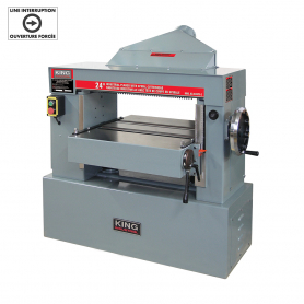 "24"" INDUSTRIAL PLANER WITH SPIRAL CUTTERHEAD (220V, 3 PHASE)"