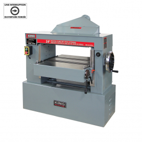 "24"" INDUSTRIAL PLANER WITH SPIRAL CUTTERHEAD (600V, 3 PHASE)"