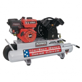 10 GALLON 6.5 HP GAS WHEELBARROW AIR COMPRESSOR